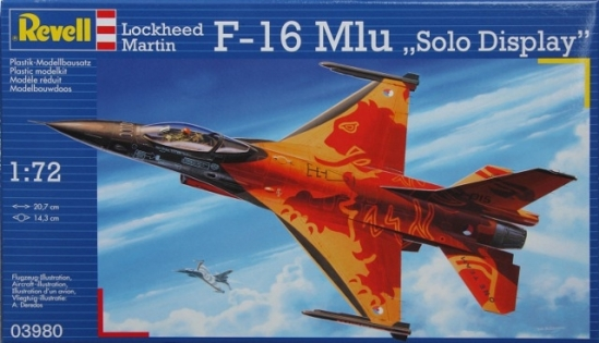 Истребитель F-16 Mlu Solo Display Klu, 1:72, Revell