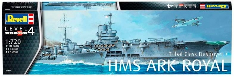 Корабли HMS Ark Royal и Tribal Class Destroyer, 1:720, Revell