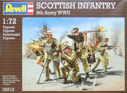 Шотландская пехота Scottish Infantry 8th Army WWII, 1:72, Revell