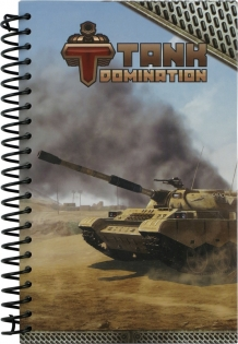 Блокнот А5, 80 л., спираль, Tank Domination, Kite